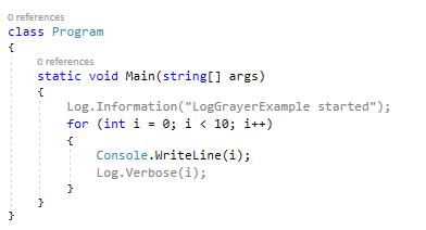 Gray Log Lines - Visual Studio Marketplace